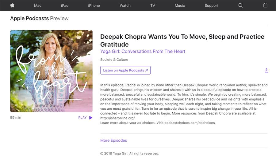 Yoga Girl and Deepak Chopra